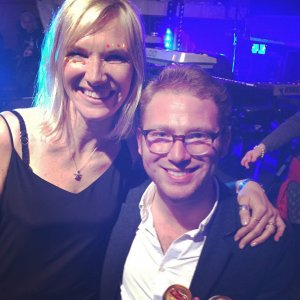 Richard with Jo Whiley - 2017